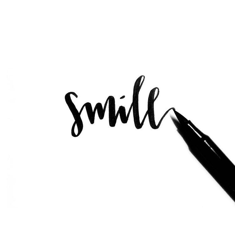 Smile! 😁 Day 222/365. #sparkletters #handlettering # ...