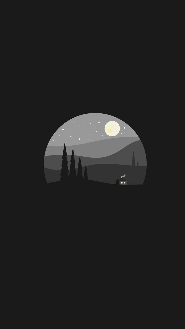 Black clean minimal wallpaper - Background