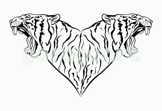 Wild tiger vector svg dxf eps png cdr ai pdf por Garageartdesign