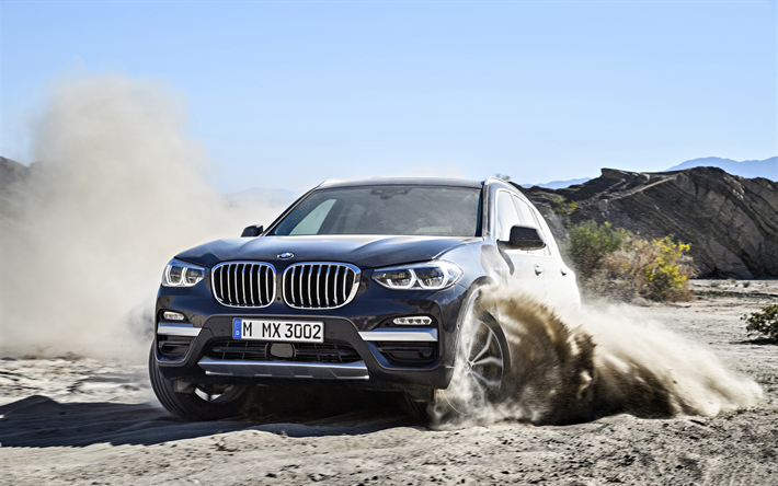 Download Wallpapers Bmw X3 2018 4k Off Road New X3 Driving Through The Sand German Cars Suv Crossovers Bmw Besthqwallpapers Com