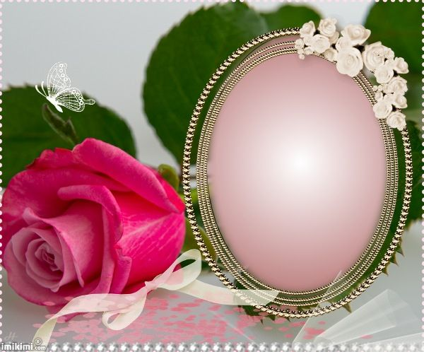 Pink frame. you can click to add your own photo