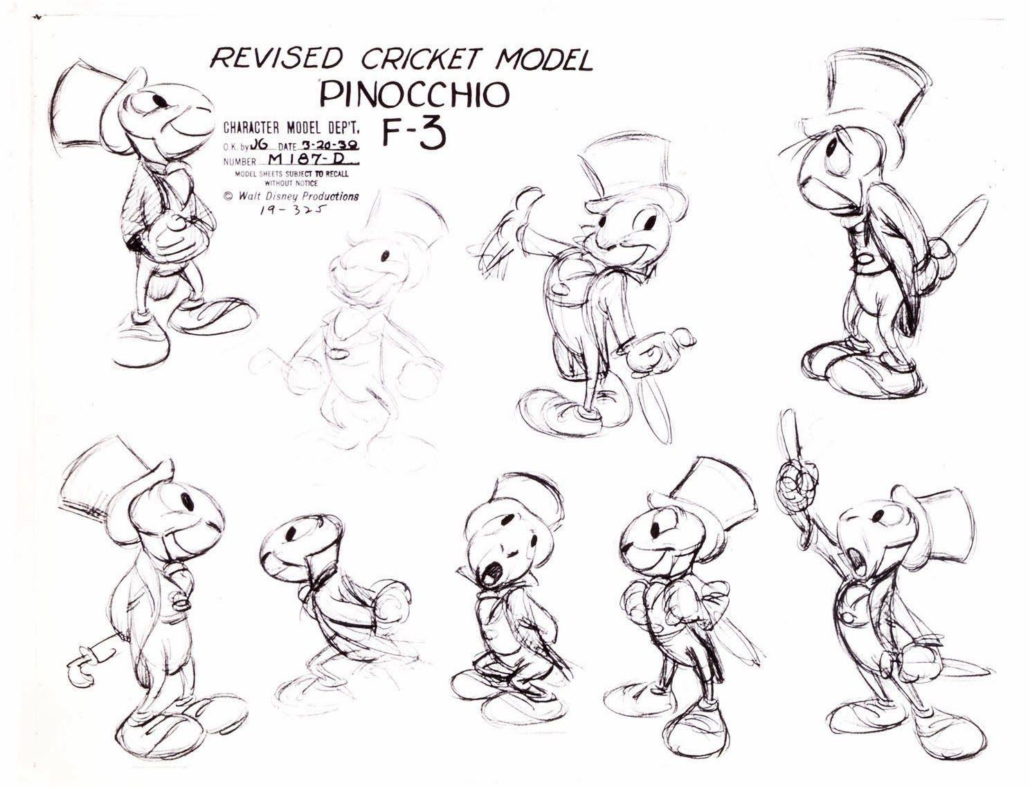 Character Design Journal : Disney jimney cricket character sheet inspiration