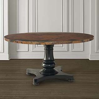 54 Round Copper Top Dining Table Dining Table Copper Round Copper Dining Table Dining Table