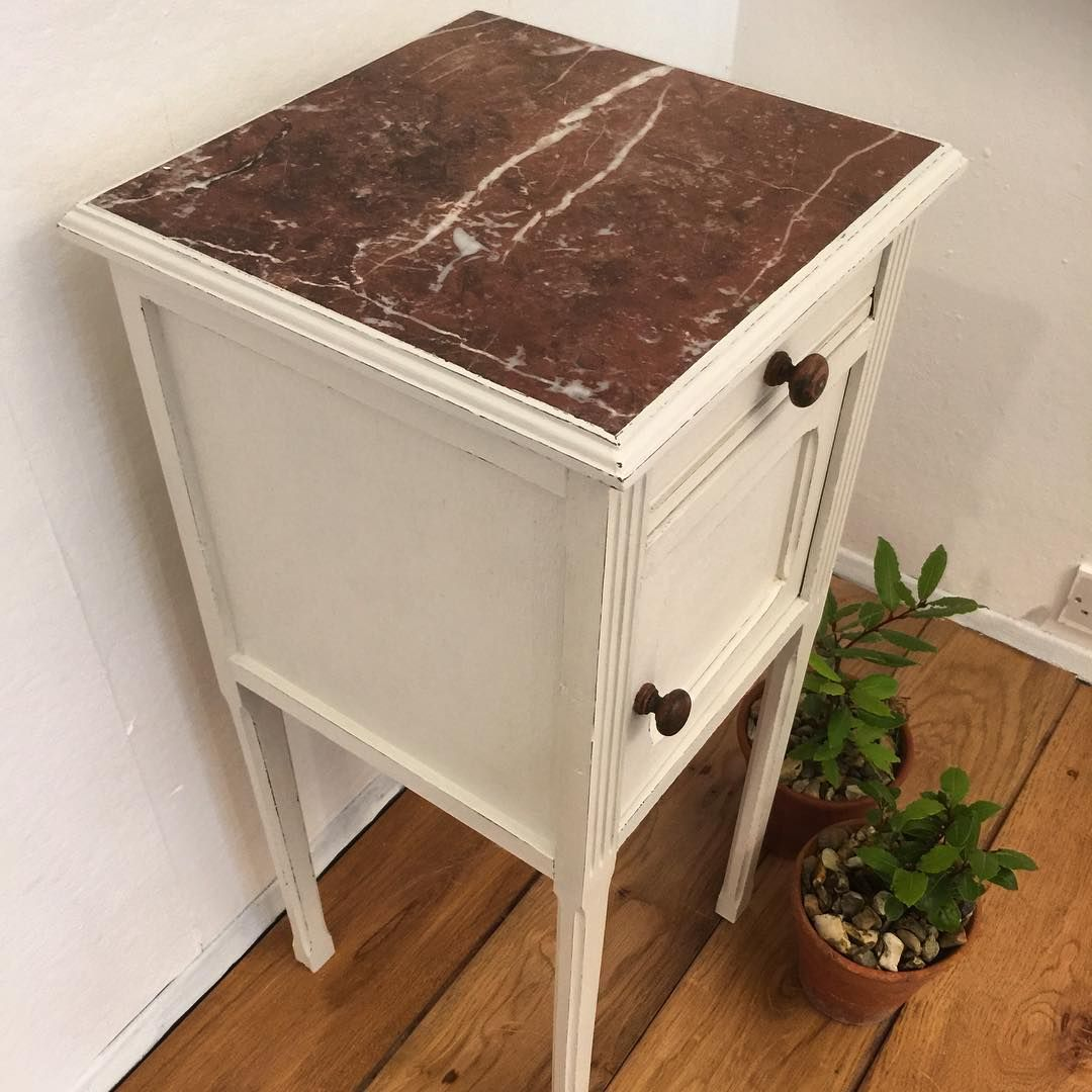 Oooolalala French is best for bedsides! Hand painted too with Fusion Mineral Paint! #frenchmarblebedside #frenchmarble #frenchvintage #bedsidetable #boudoir #cremedelacreme #onlythebestwilldo #gorgeousjustgorgeous #specialfurniture #upcyclyingatitsbest #welovethis #vintageshopinsussex #EastGrinstead #howivintage #lovinglymade
