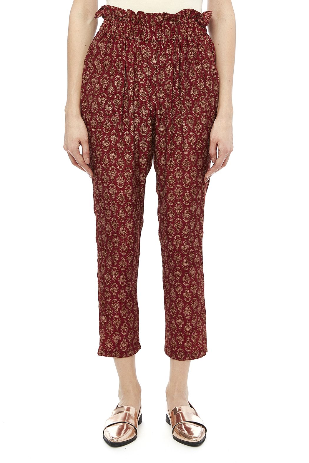 High waisted pants with elastic tapers at the ankles and an allover print.   High Waisted Harem by Umgee USA. Clothing - Bottoms - Pants & Leggings - Joggers Clothing - Bottoms - Pants & Leggings - High-Waisted New Orleans, Louisiana