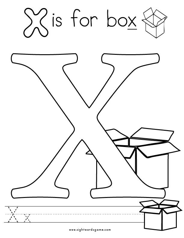 Alphabet Coloring Pages Letter X Coloring Page Alphabet Coloring Letter X Pre k letter x worksheet