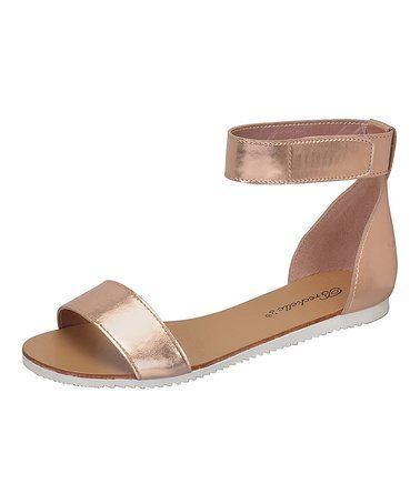 Rose Gold Joy Sandal #zulily #zulilyfinds