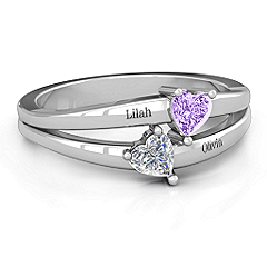 Twin Hearts Ring #jewlr