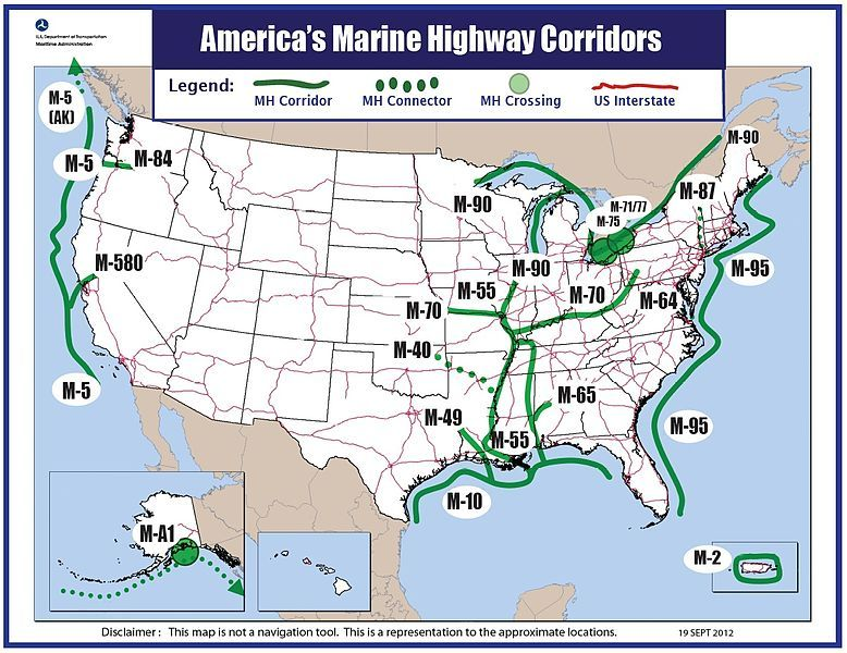 North America Inland Waterways Sea Life Great Loop Project And - Us map waterways