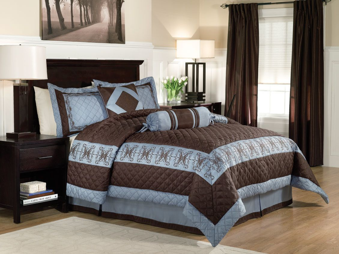 55+ Blue Brown Bedroom Decorating Ideas Best Paint for