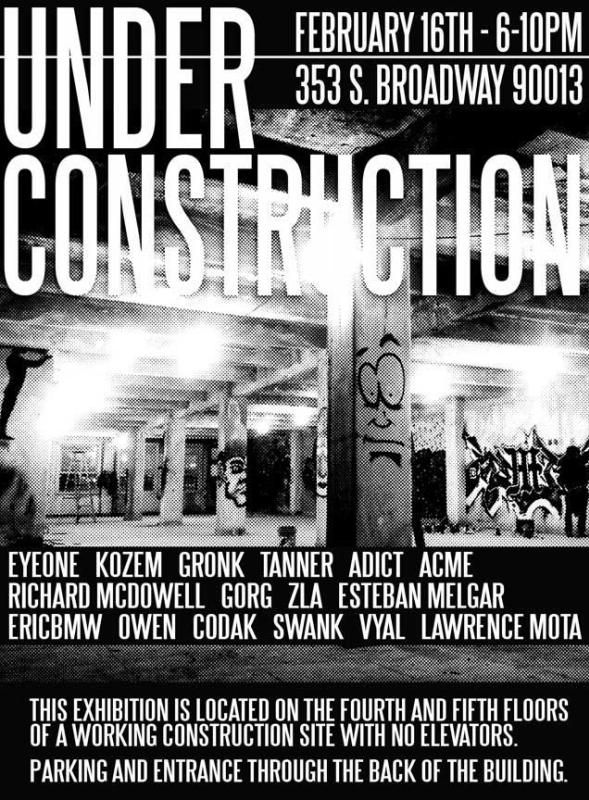 Under Construction One Night Only Art Exhibition Feb 16th L A Taco Exhibition Under Construction First Night