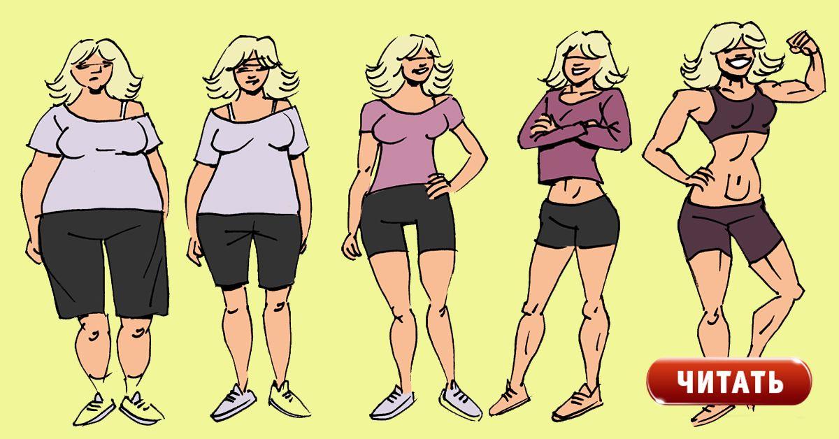 Фитнес Этапы Похудения. Этапы похудения тела: какие части тела худеют быстрее, причины