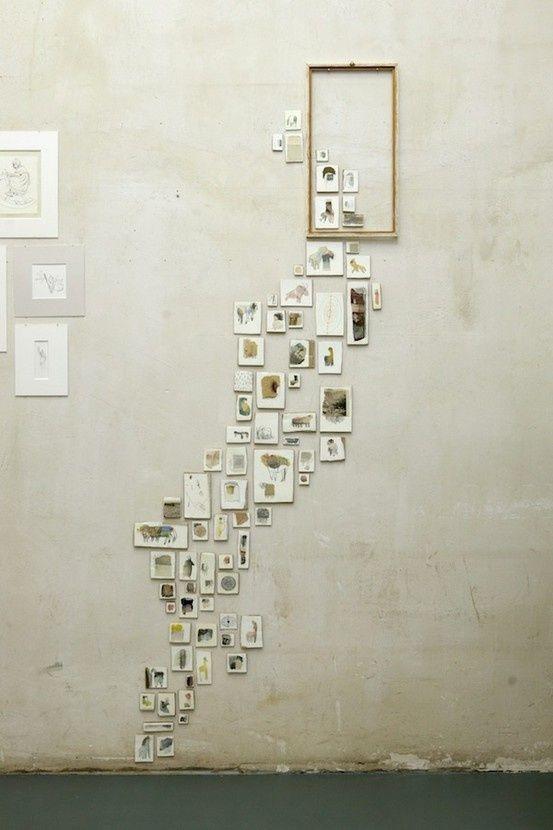 A Neat Way To Display Wall Art Wall Collage Art Display Photo Displays
