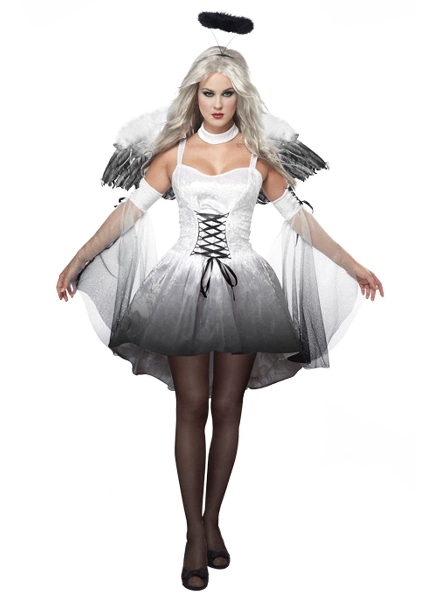 Dark Fallen Angel Fancy Dress Costumes