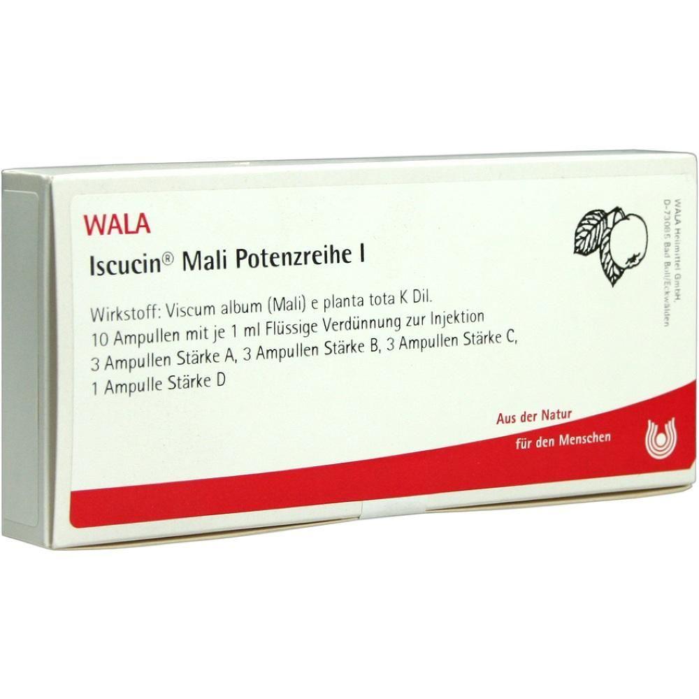 ISCUCIN MALI Potenzreihe I:   Packungsinhalt: 10X1 ml Ampullen PZN: 04429059 Hersteller: WALA Heilmittel GmbH Preis: 41,92 EUR inkl. 19 %…