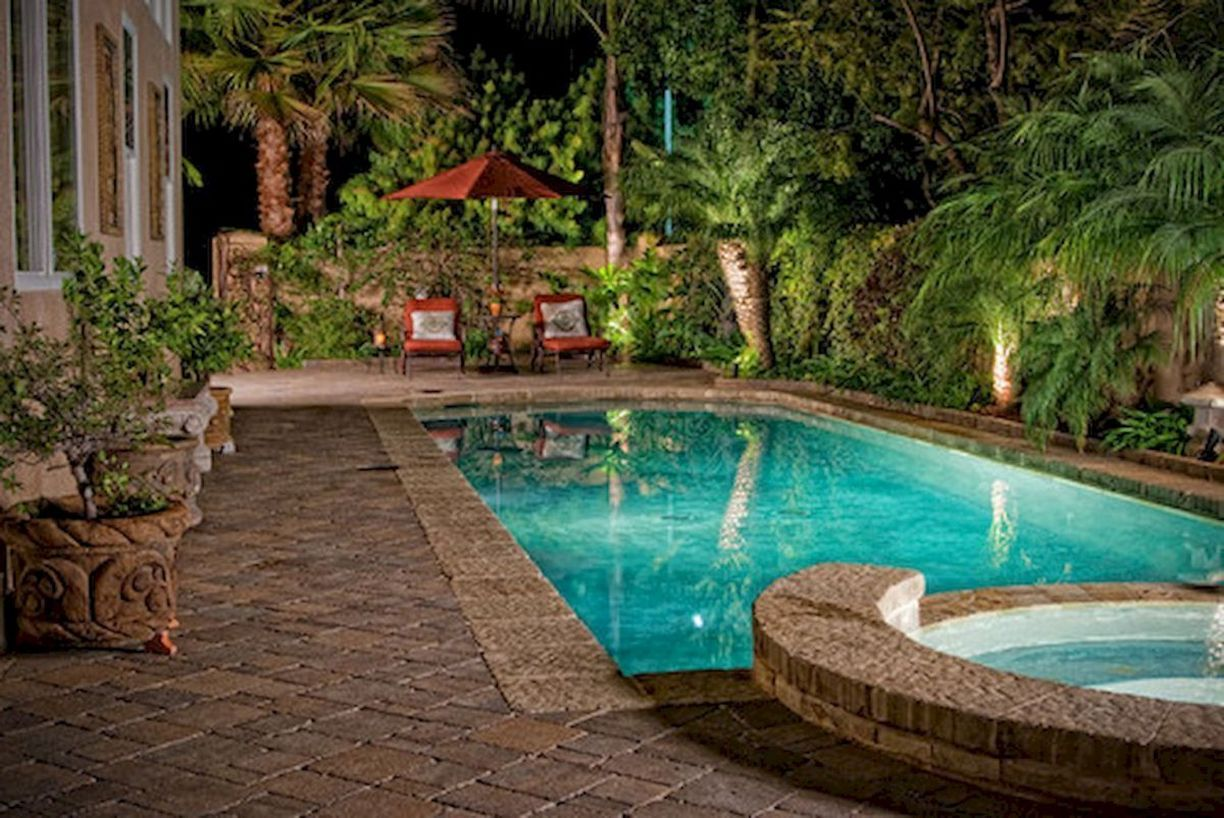 60+ Great Pool Landscaping Ideas Tropical Small Backyards ... on Tropical Landscaping Ideas For Small Yards id=83870