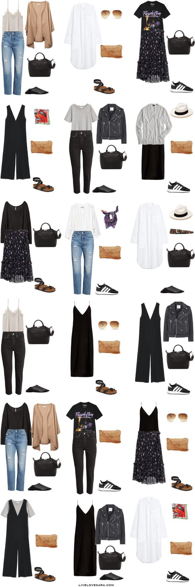 What to Pack for Paris, Barcelona, and an Italian Cruise - livelovesara #travelwardrobesummer