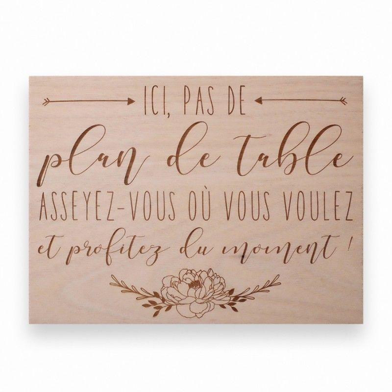 Panneau en bois pas de plan de table moyen mod le en - Exemple plan de table mariage ...