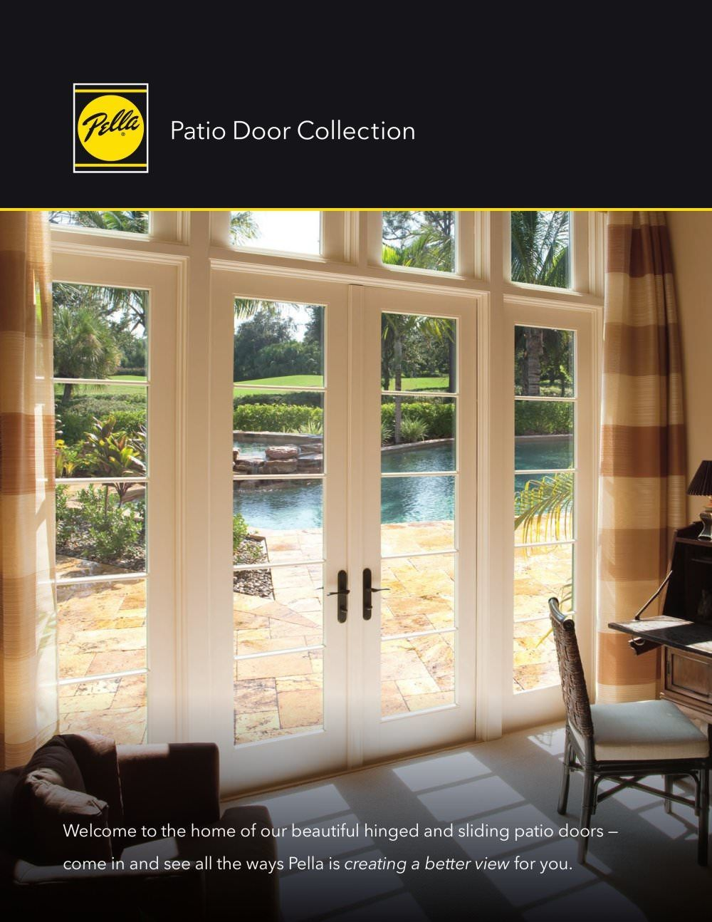 Pella Architectural Series Sliding Glass Doors The Huge Growth In Demand For Folding Sliding Doors On The Hinged Patio Doors Patio Doors Sliding Patio Doors