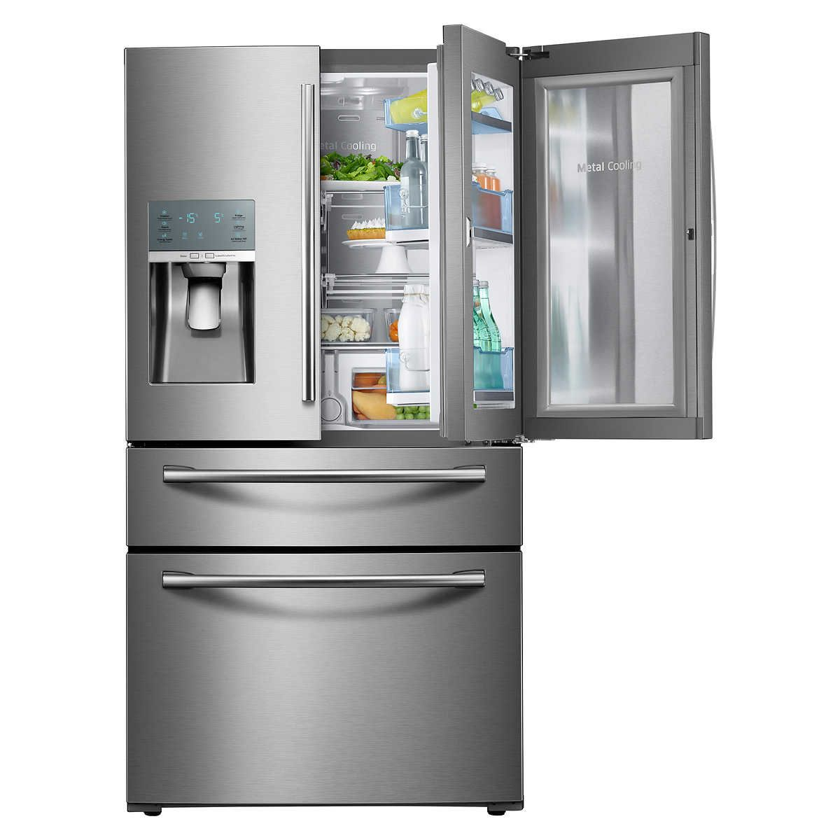 Samsung 28cuft 4 Door French Door Showcase Refrigerator With Metal