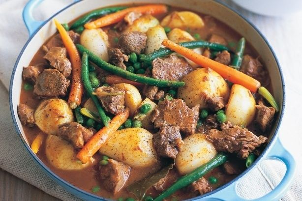 It's kind of a lighter (but equally delicious) version of boeuf bourguignon. Except that it's made with lamb, white wine, and spring vegetables. What to drink: Although it's made with white wine, a pinot noir is the best option to go with the dish.