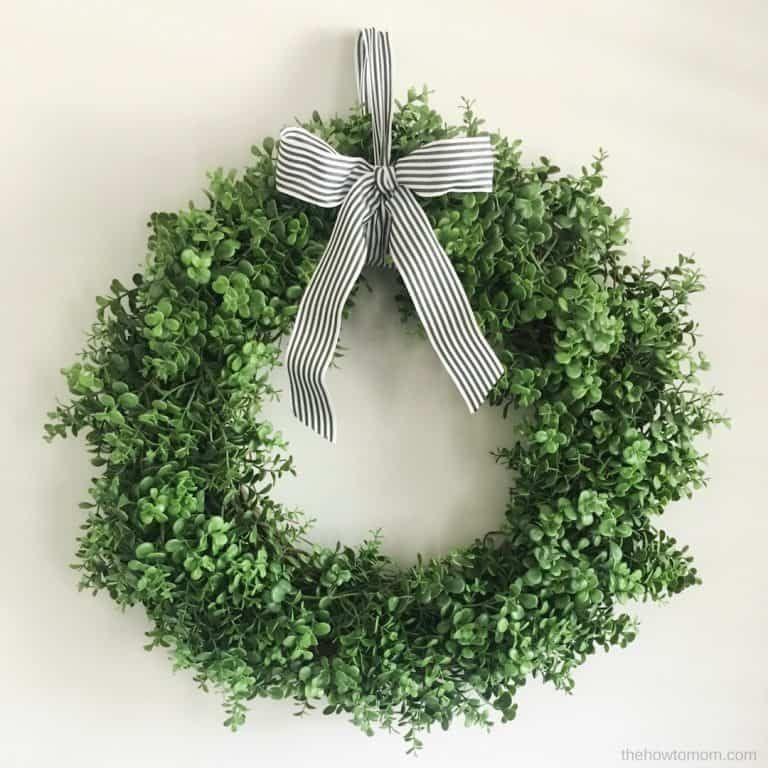 How To Make A Faux Boxwood Wreath - Simple