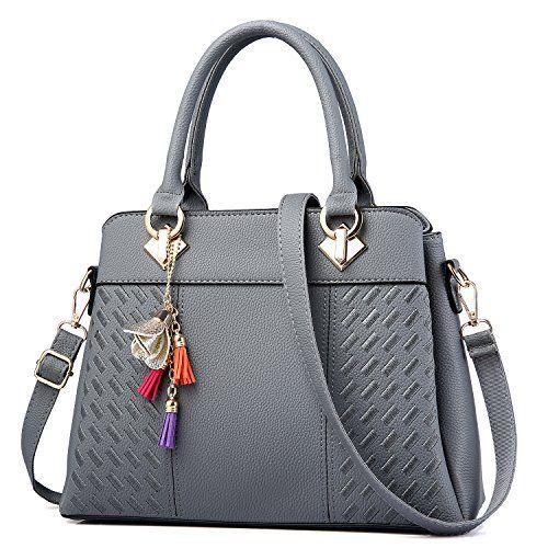 221566fe35c2 Fine $25.99 Womens Purses and Handbags Ladies Designer Satchel Tote Bag  Shoulder Bags, Gray #Bag #Bags #Designer #Gray #Handbag #handbags #Ladies # Purses ...