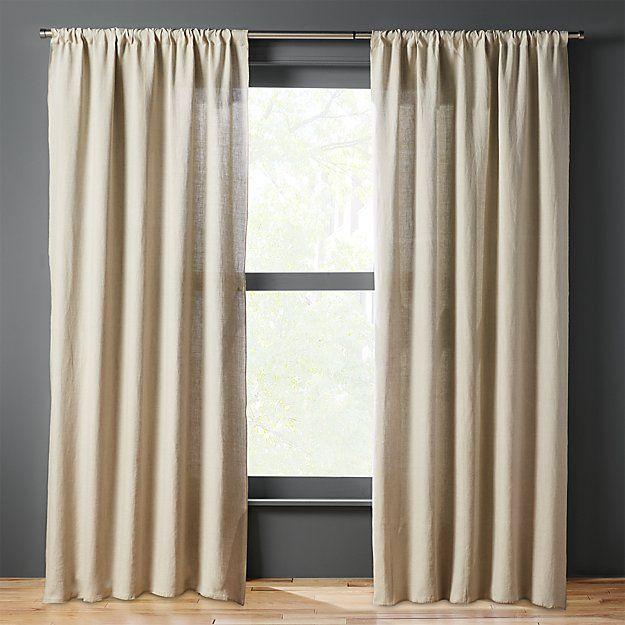 Silver Grey Linen Curtain Panel Linen Curtain Panels Shabby