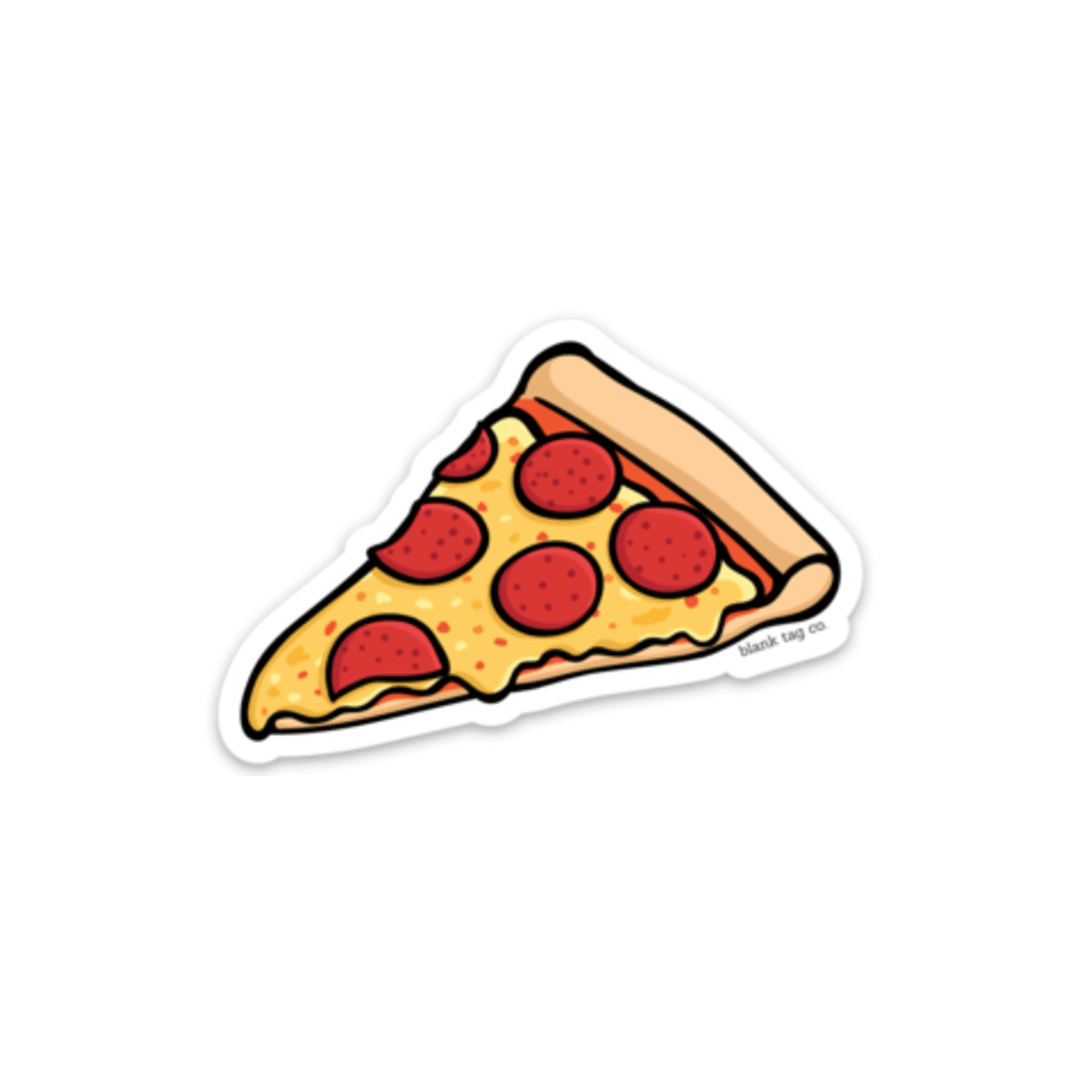 The Pepperoni Pizza Slice Sticker Food Stickers Hydroflask Stickers Printable Stickers