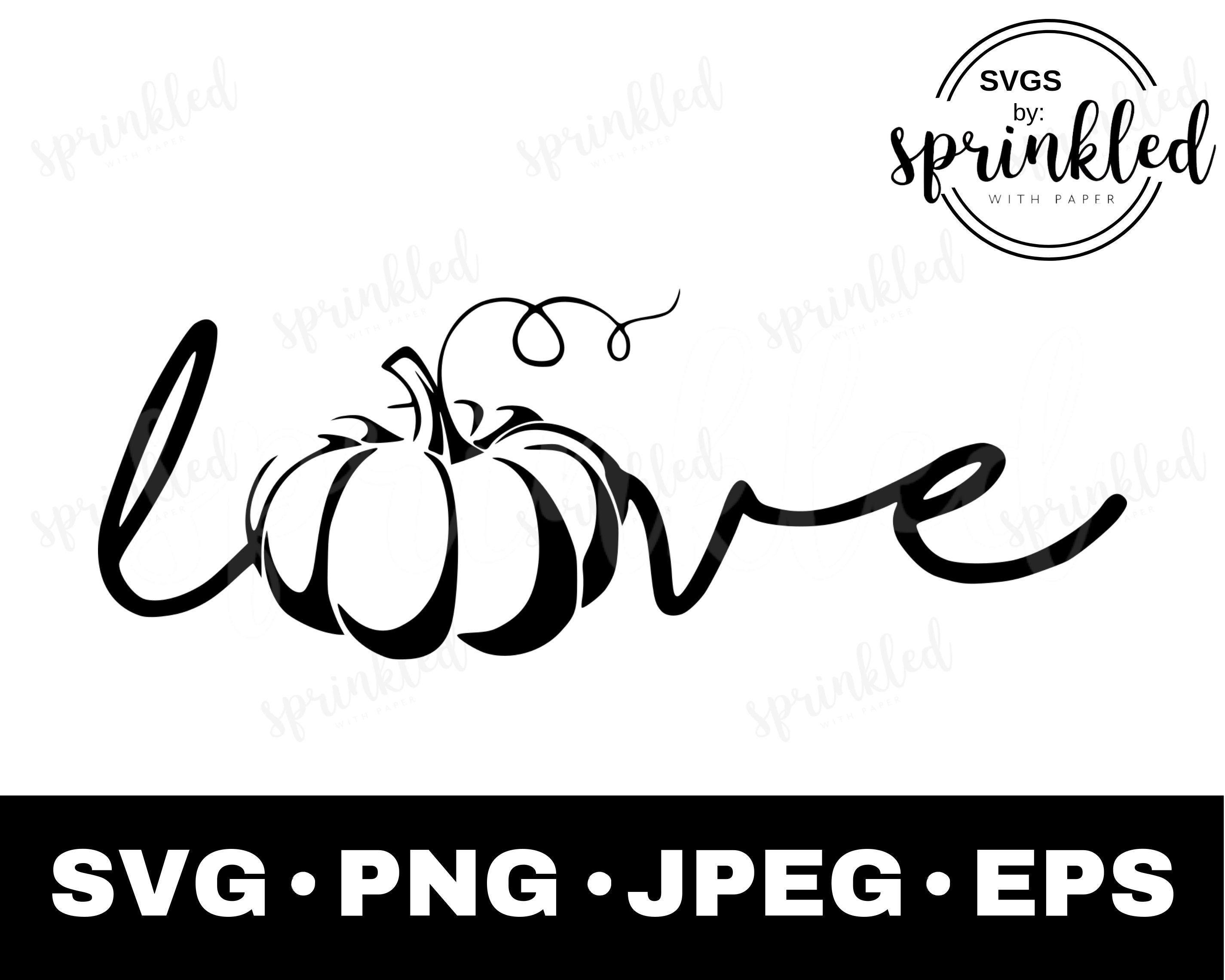 Download Fall Love SVG- Pumpkin Love SVG-Commercial Use | Svg ...