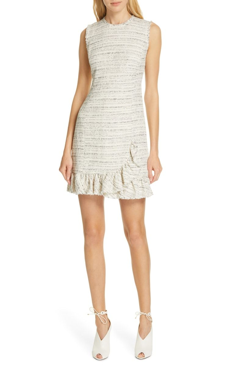 e2dcf1846fba Free shipping and returns on Tailored by Rebecca Taylor Tweed Sheath Dress  at Nordstrom.com. Frayed edges and a ruffled hem add dynamic sophistication  to ...