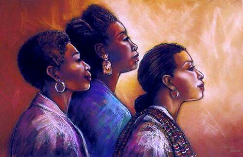 Women Who Look Ahead, By Monica Stewart    Join www.blackartinamerica.com and fill your summer with ART.