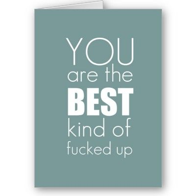 You really are.