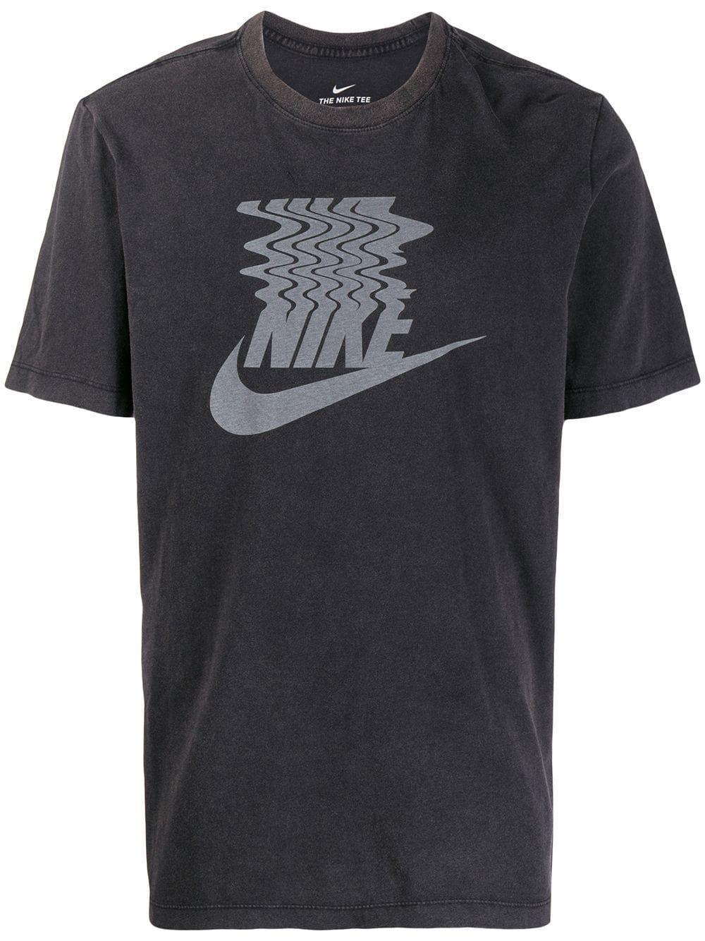 Nike Tshirt Mit Logoprint Schwarz In Black (With