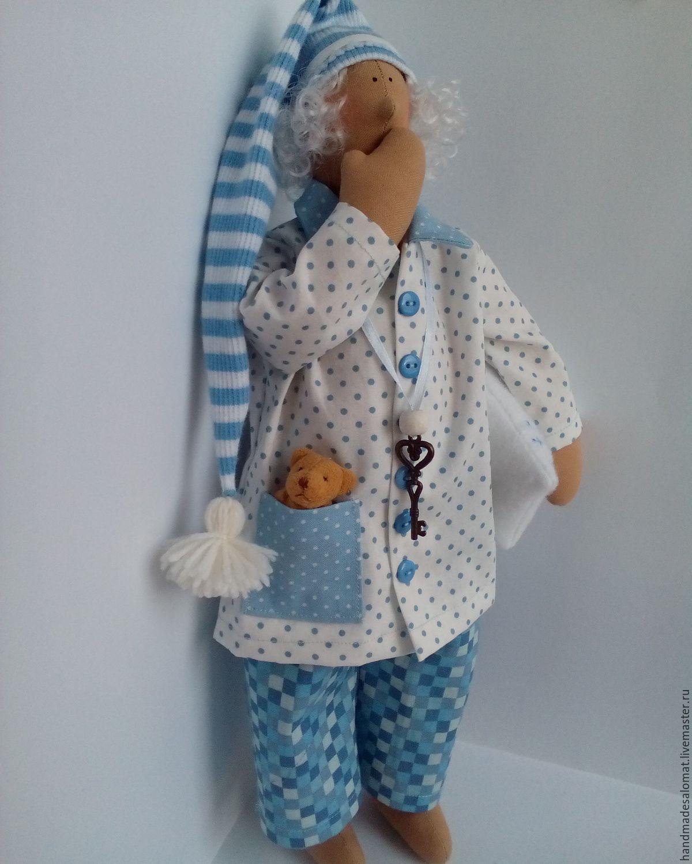 Купить Сонный ангел Яша - голубой, сонный ангел, сплюшкин, сплюшка, сплюх, сонный, сплюша