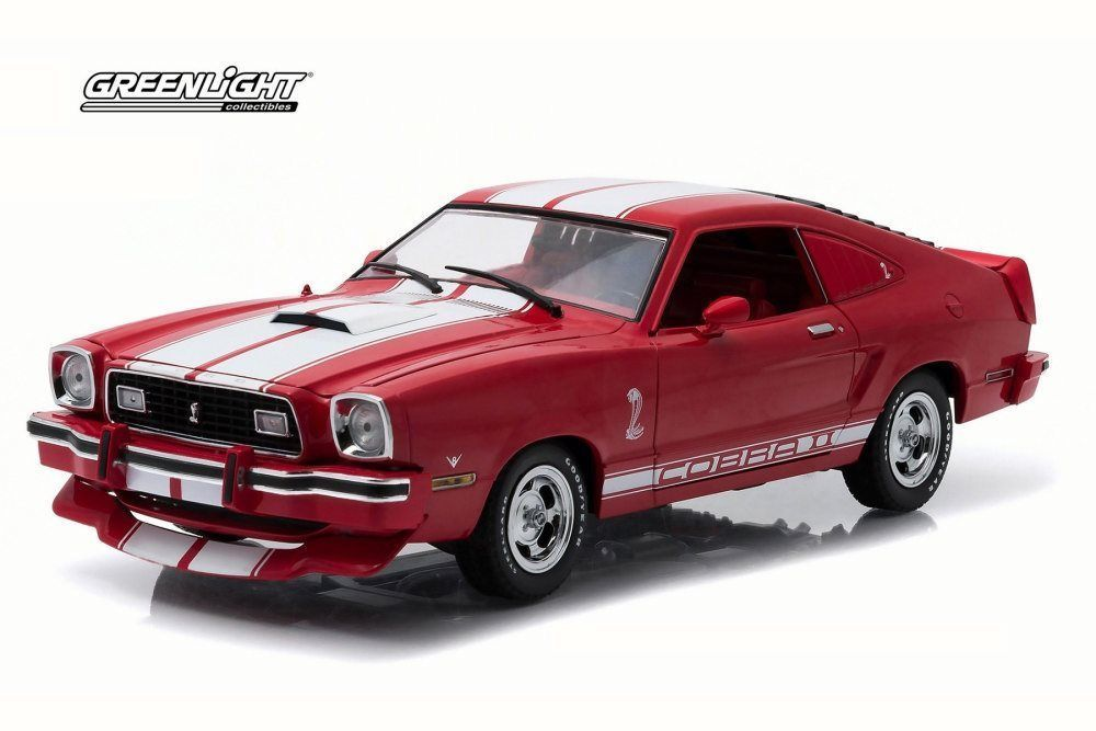 1978 Ford Mustang Cobra II Red Greenlight 12940 1/18 Scale Diecast Model Car #Greenlight #Ford