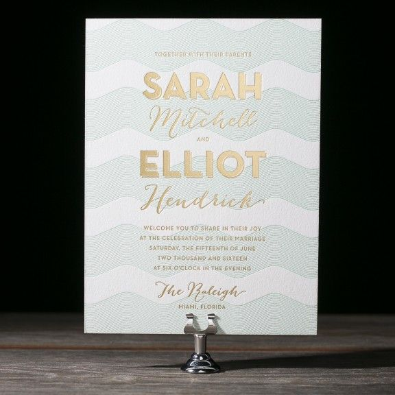 Viceroy wedding invitations from Bella Figura - I like the mix of - Formal Invitation Letters