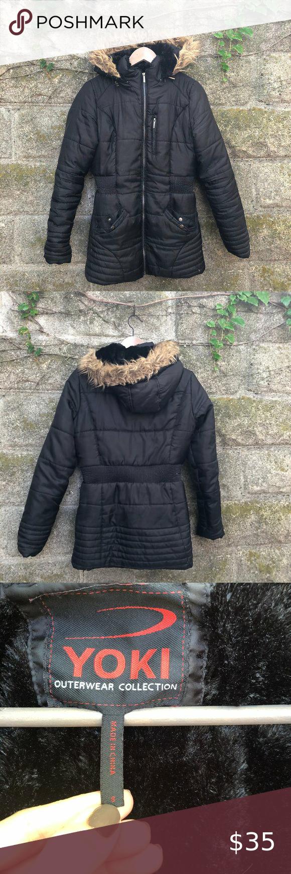 Yoki Outerwear Mid Length Puffer Faux Fur Hood Yoki Outerwear Collection Black Mid Length Puffer Parka Winter Jacket With Cinc In 2020 Faux Fur Hood Fur Hood Outerwear [ 1740 x 580 Pixel ]