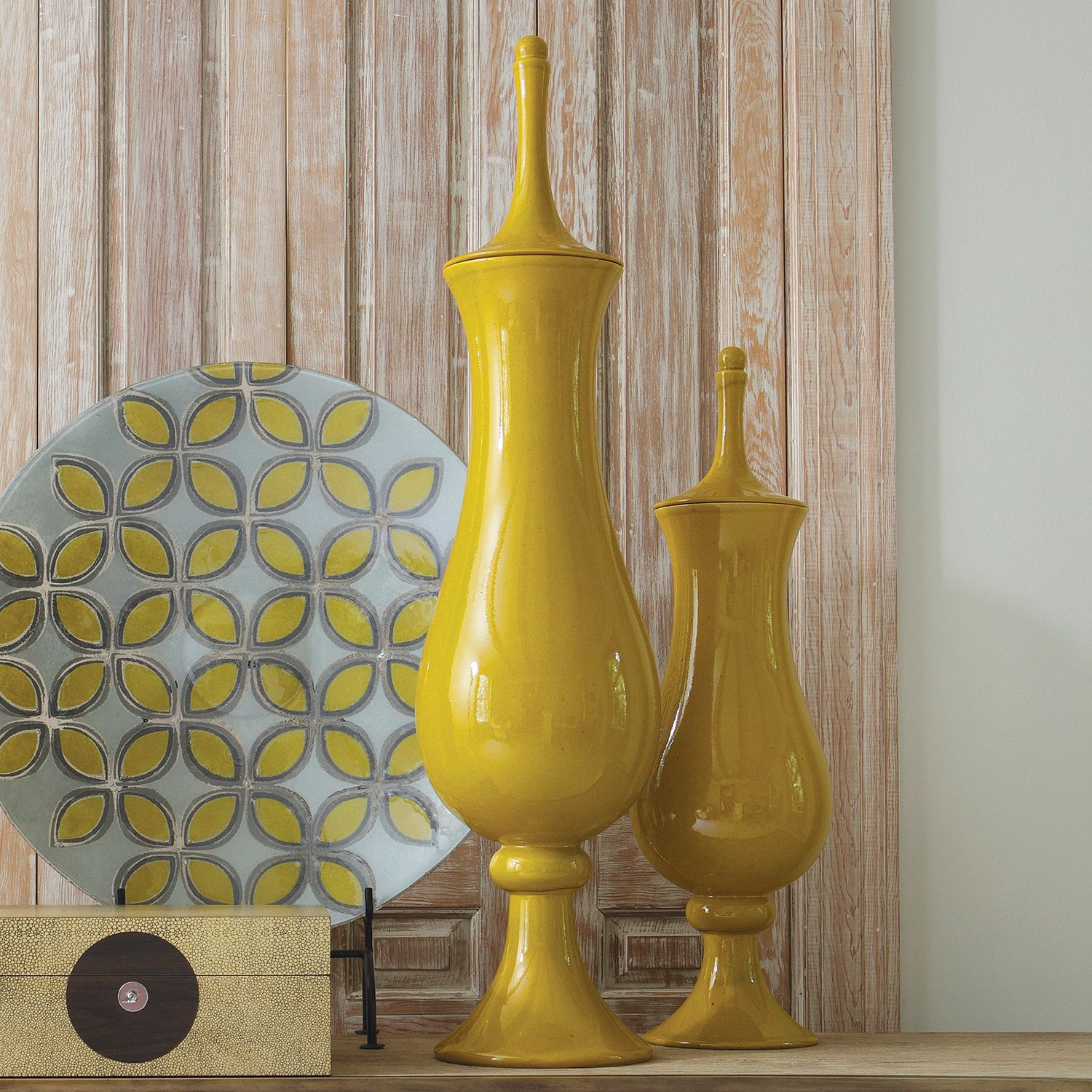 Yellow Accessories For Living Room Global Views Tower Jar Solar Yellow Pinterest Jars Solar