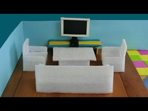 how to make miniature furniture. How To Make Miniature Realistic Couch - YouTube Furniture K