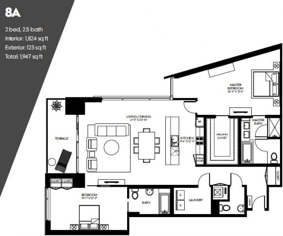 W Hollywood Residences Pent House Floor Plans Open Concept Floor Plans