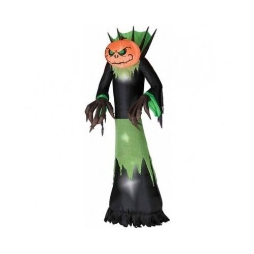 Airblown Lighted Pumpkin Man Inflatable Halloween Decoration Light - halloween lighted decorations