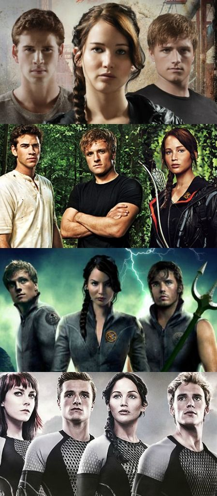 The Hunger Games Movies With Some Of The Characters Hunger Games