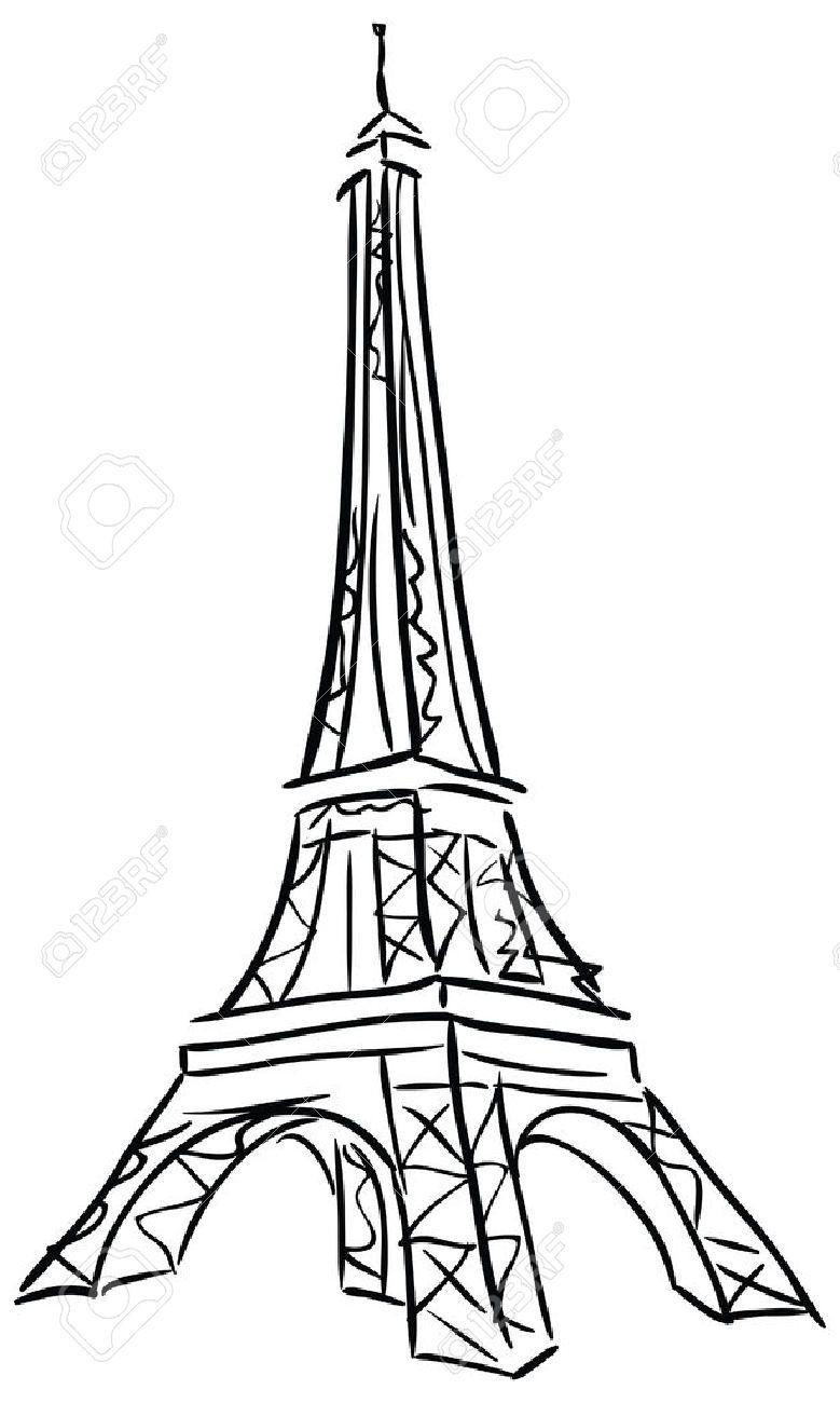 Ilustração Do Vetor Da Torre Eiffel Desenho Preto E Branco Pintura De Torre Eiffel Torre Eiffel Dibujo Torre Eifel Dibujo