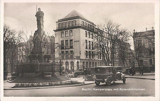1930er Kemperplatz mit dem Blick zur einmeundenden Viktoriastrasse