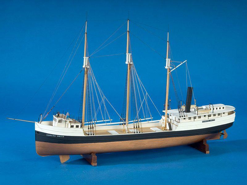 Steam barge Edward Smith   bateaux   Boat, Model ships et Sailing ships
