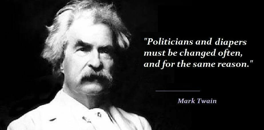 Image result for mark twain quotes on elections