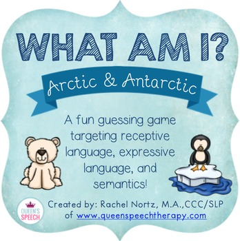 Winter animal fun! Can you tell which animals are Arctic and which animals are Antarctic? Can you sort the animals into land, water or both? Learn all about the different kind of cold weather animals in this pack! Ages 6+CONTENTReceptive Language (pages 3-5)= 24 winter animal cards.