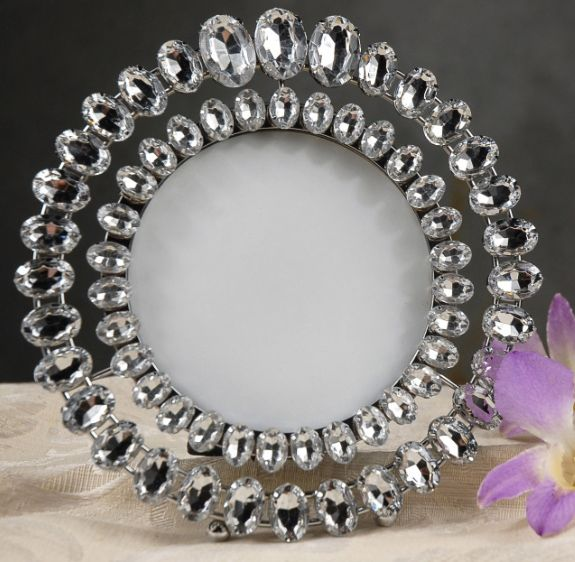65 round rhinestone table number frame 10 each 3 for