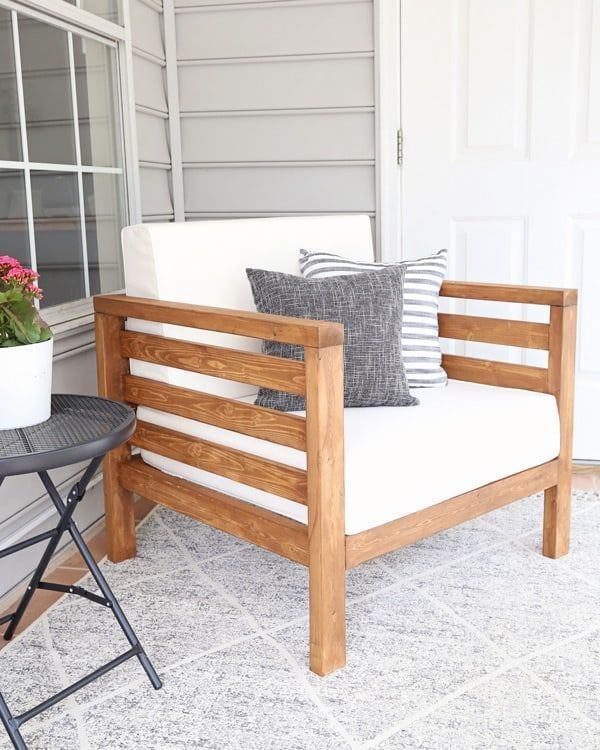 Diy Outdoor Stuhl Angela Marie Made Wie Man Einfach Einen Diy Outdoor Stuhl Angela Diy Diyou In 2020 Diy Outdoor Furniture Diy Patio Furniture Outdoor Chairs